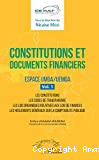 Constitutions et documents financiers espace UMOA/UEMOA vol.1