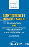 Constitutions et documents financiers espace UMOA/UEMOA vol.2