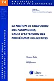 La notion de confusion des patrimoines, cause d'extension des procédures collectives