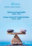 Dictionary of Legal English, English-French